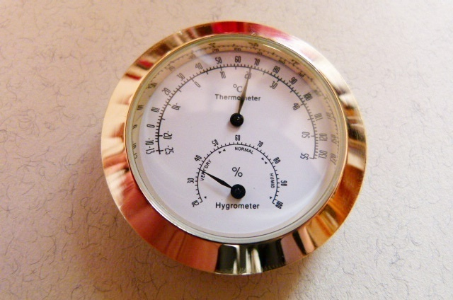 Thermo.- Hygrometer Kombination - Gold